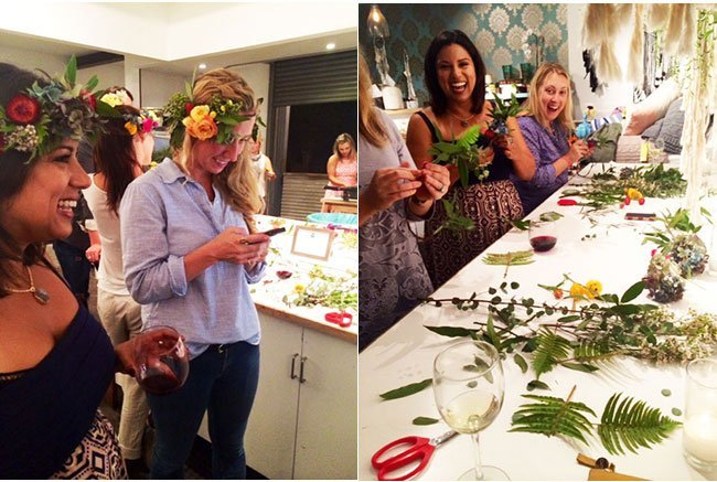 A Perfect Evening Filled With Wine, Cheese, and Flower Crowns!