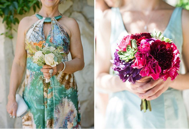 Summer Wedding Mothers' and bridesmaids' bouquets
