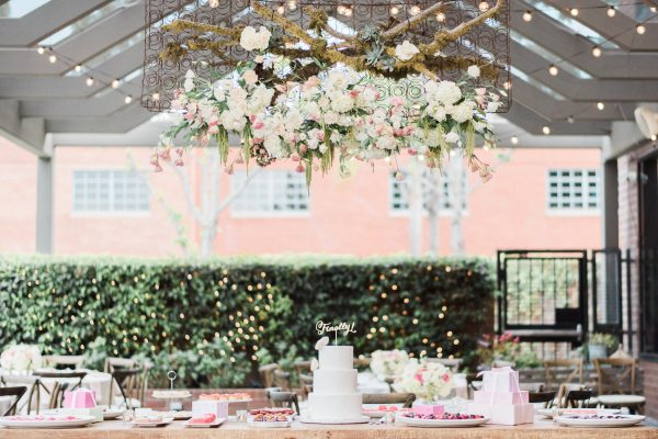 dessert table elegant santa monica wedding