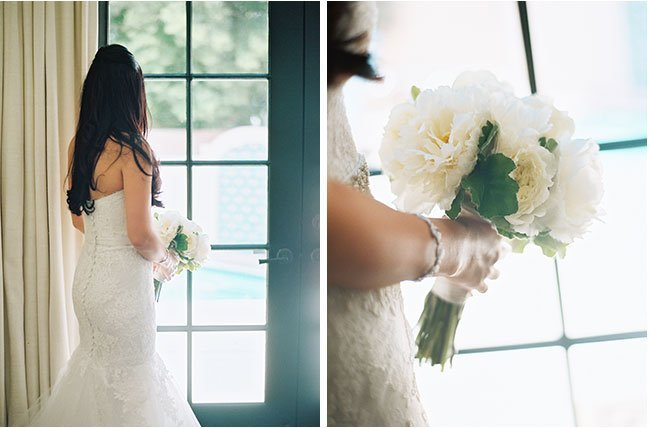 wedding florals and gown