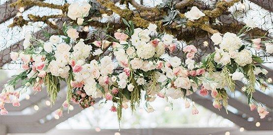 floral sculpture santa monica wedding