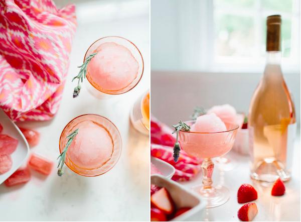 Summer Botanical Cocktails: Rosé Slushy