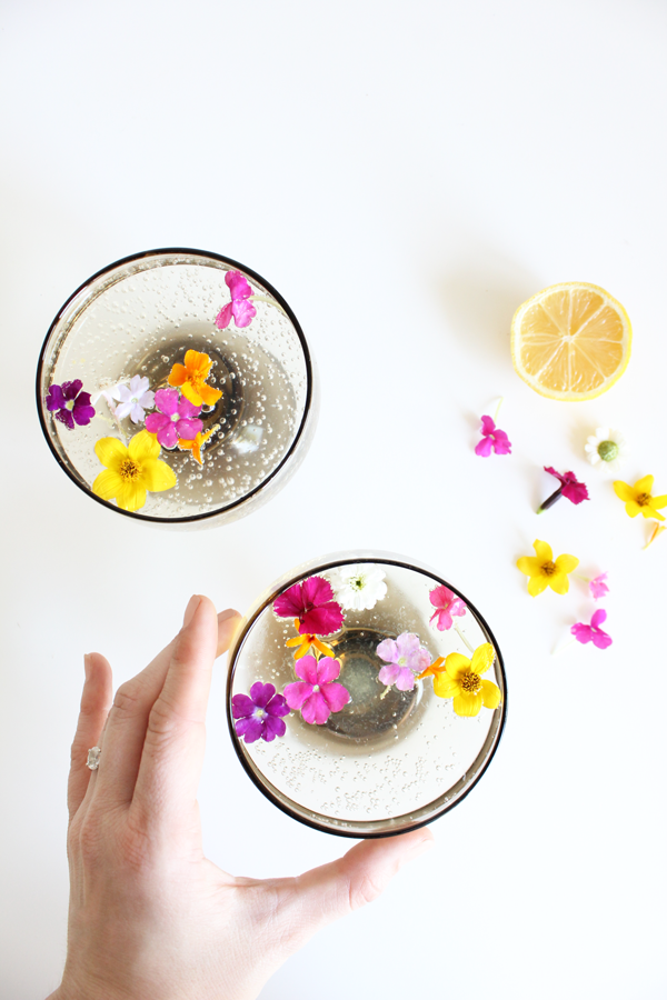 Summer Botanical Cocktails: White Wine Spritzer