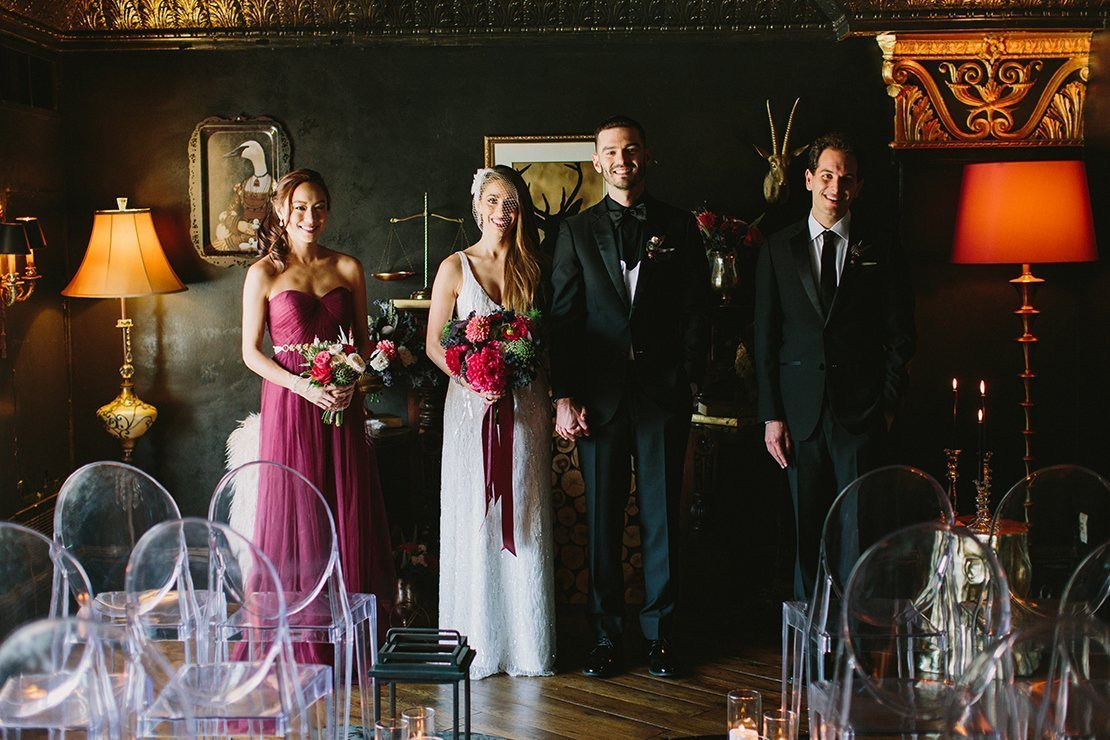 moody bridal party