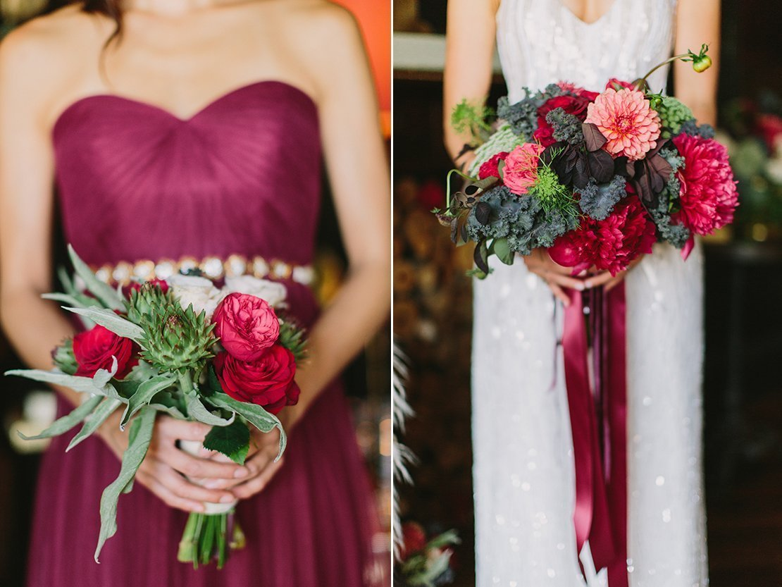 rich and romantic bouquets
