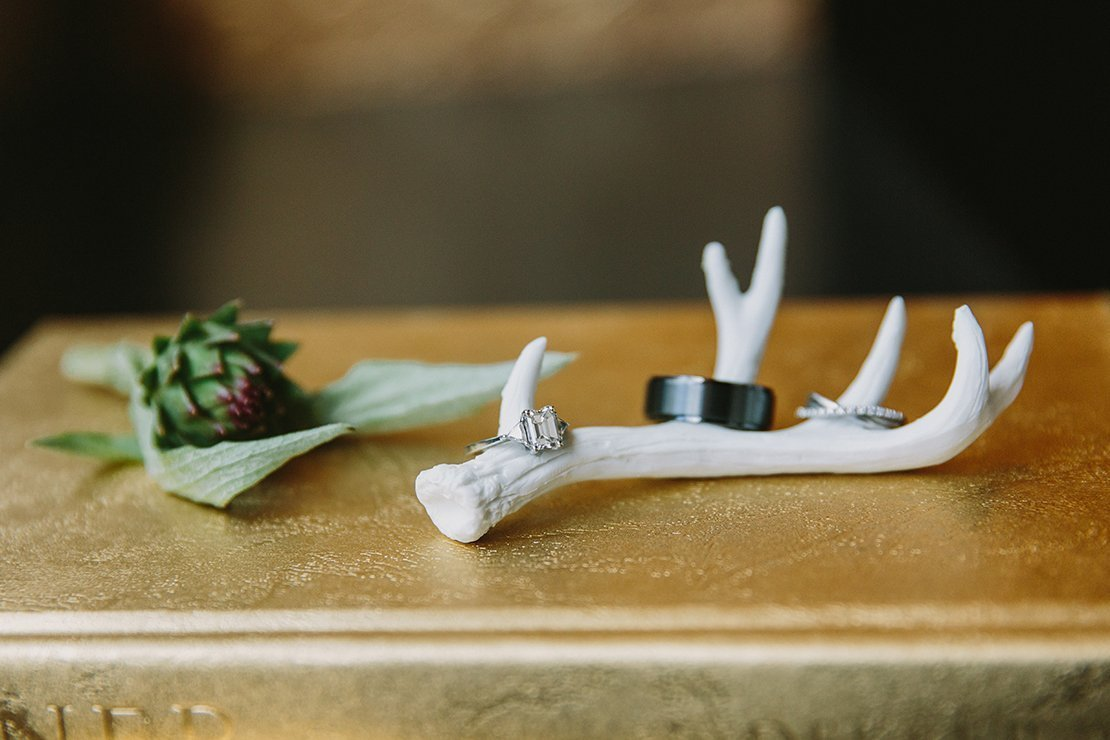 mini antler ring holder