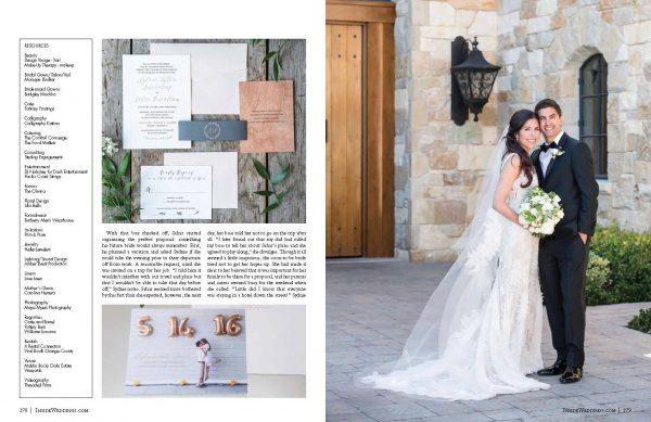 Malibu Rocky Oaks Wedding invite