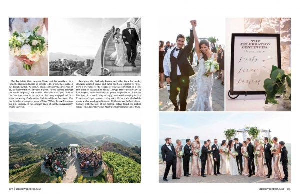 Malibu Rocky Oaks Wedding inside magazine
