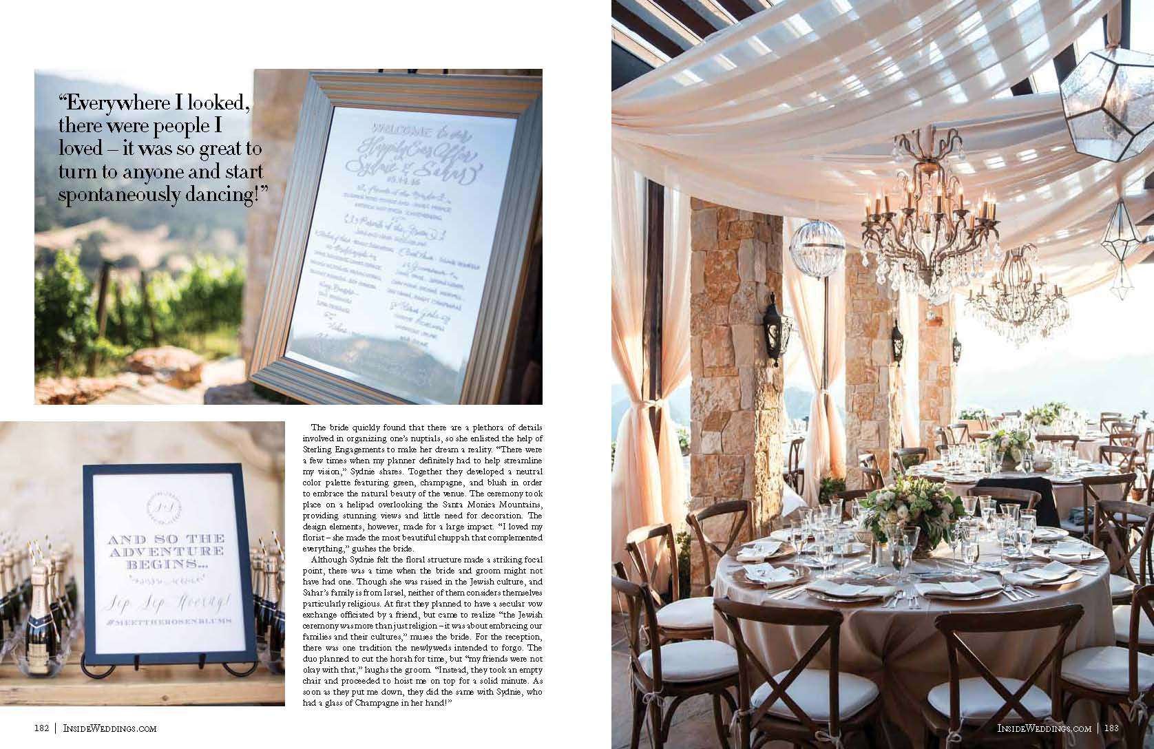 Malibu Rocky Oaks Wedding in Inside Weddings Magazine! | Lilla Bello