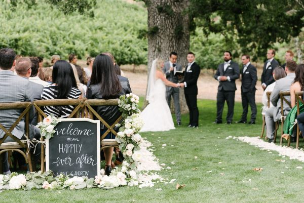 ceremony romantic vineyard wedding