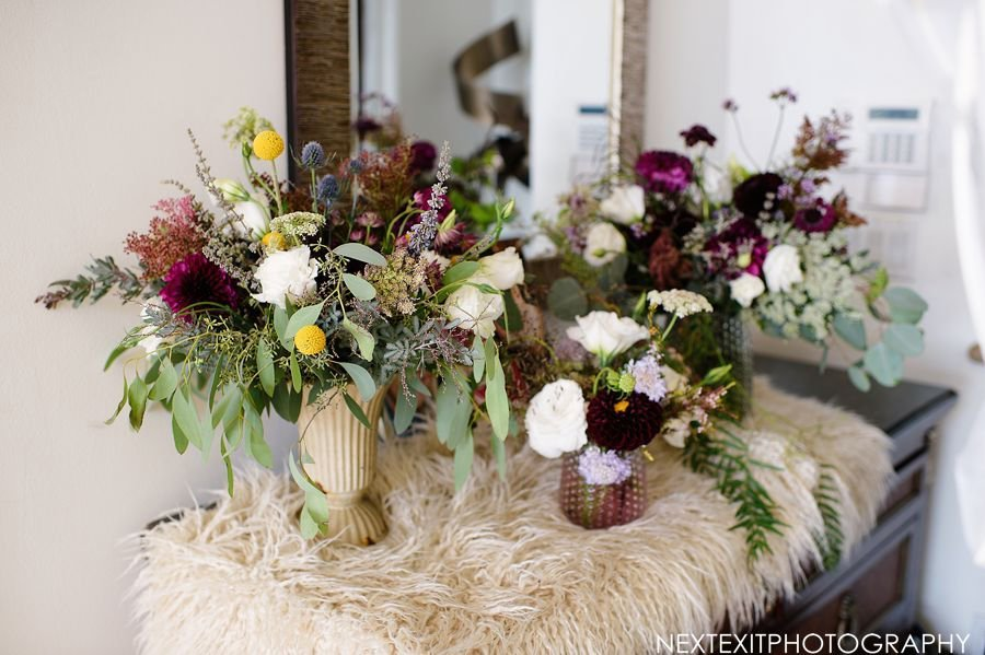 wildflower arrangements boho