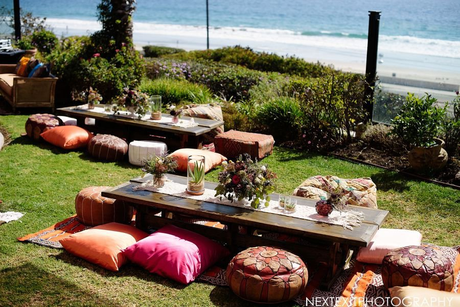 outdoor party boho