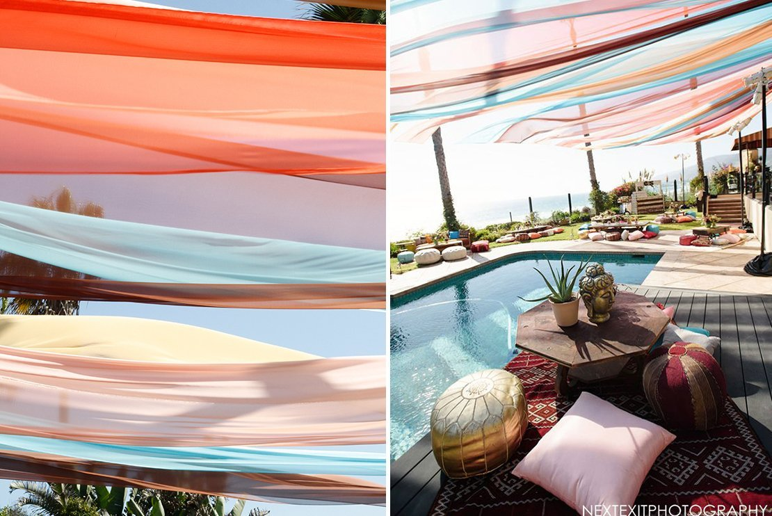 draping pool party