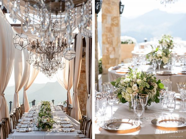 centerpieces malibu wedding