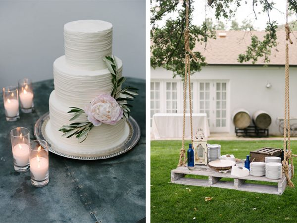 peony cake the butter end romantic vineyard wedding