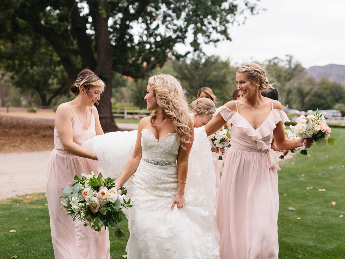 beautiful bride vineyard wedding
