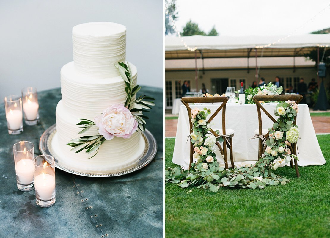 peony cake vineyard wedding