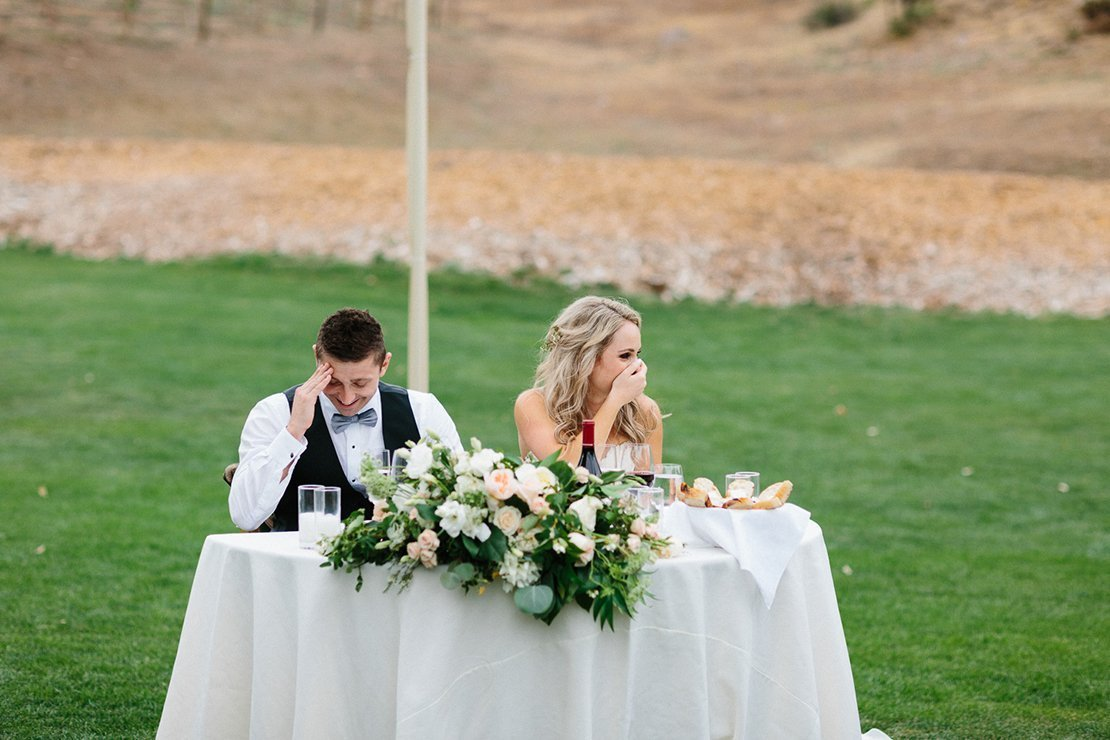sweetheart table vineyard wedding