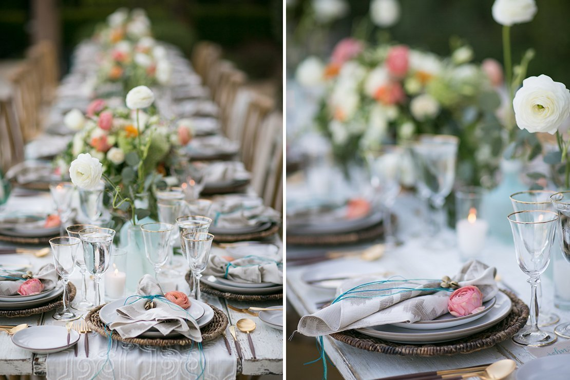 tablescape, boho chic wedding