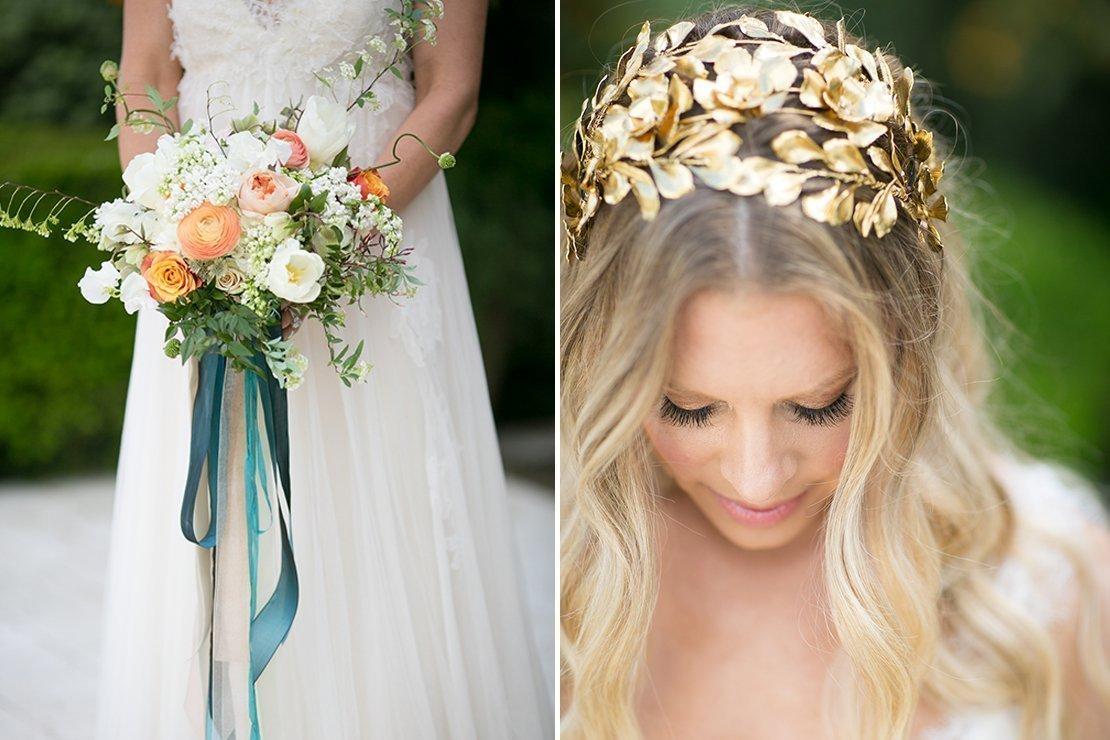 bridal bouquet, boho chic