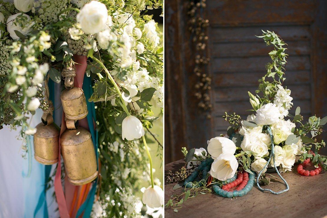 prayer bells, wedding decor