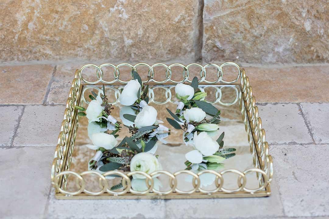 ceremony area flowers