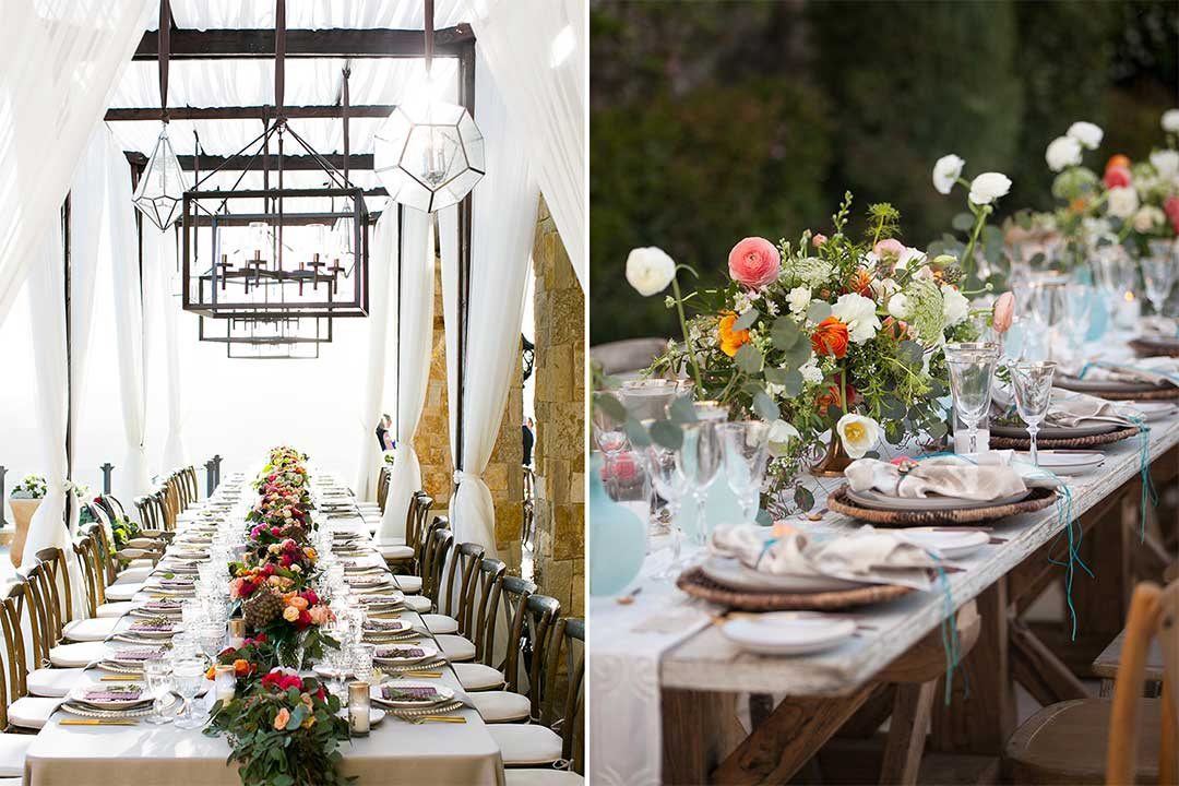 luxury wedding reception flowers