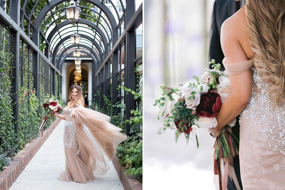 los angeles wedding, hotel figueroa