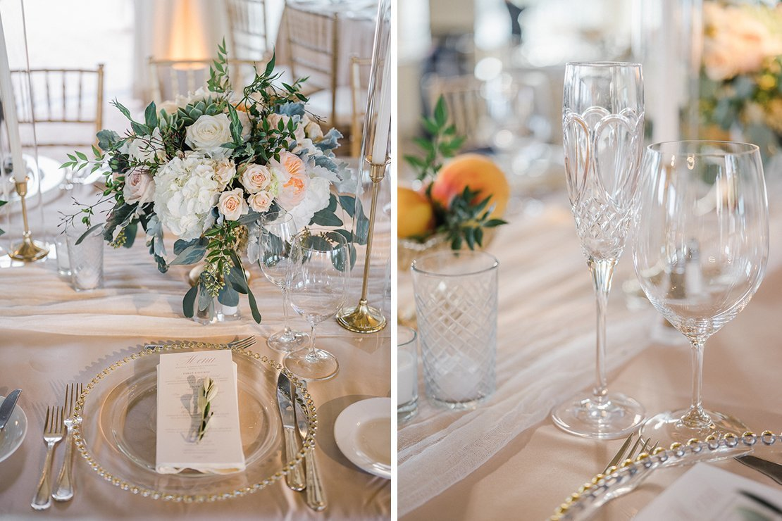 wedding tabletop, florals