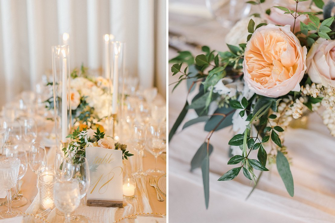 wedding florals, tabletop