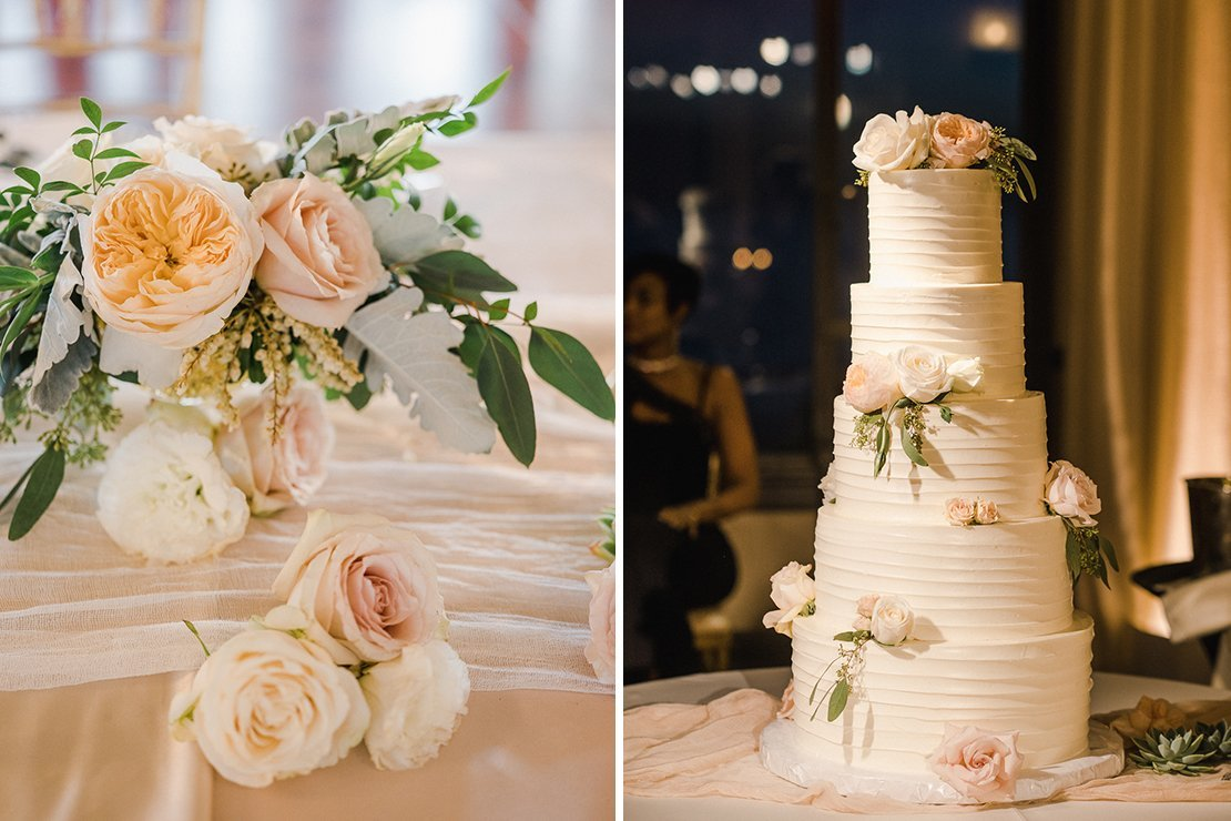 wedding cake, florals