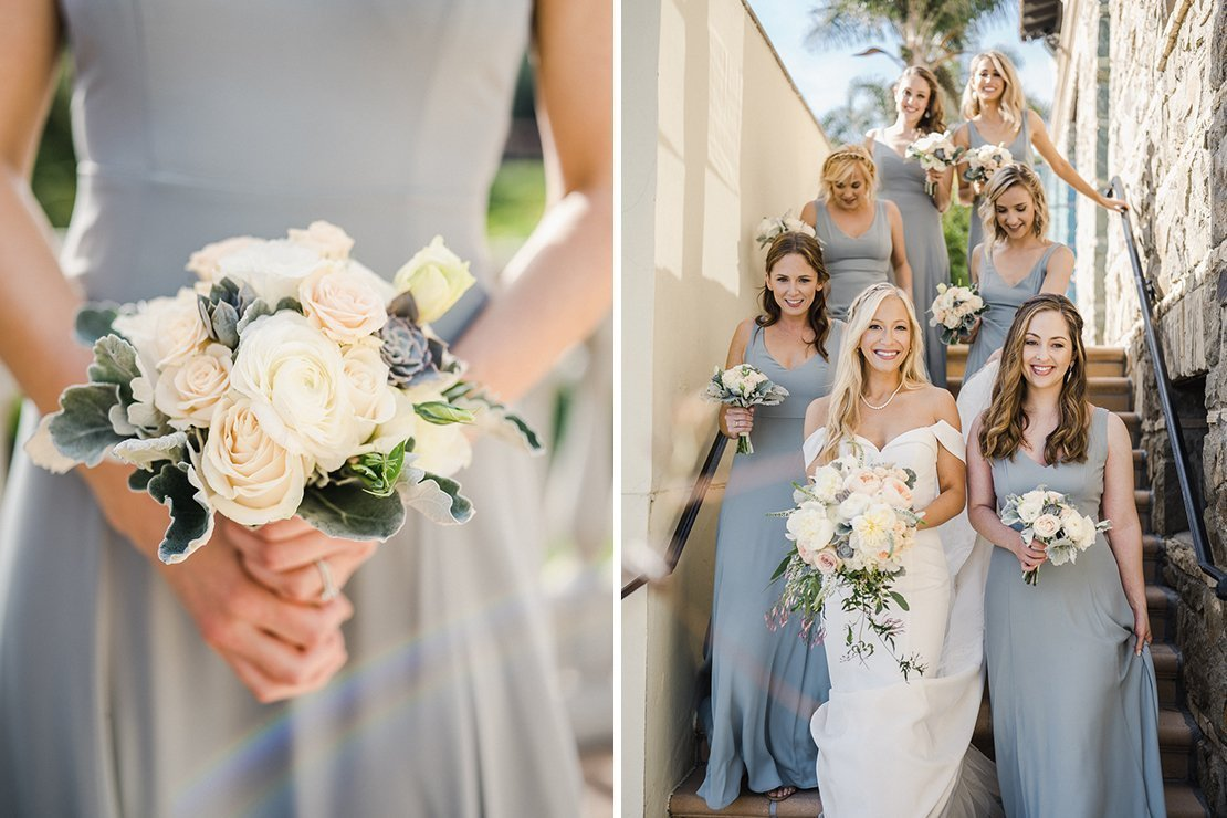 bridesmaids, bouquets